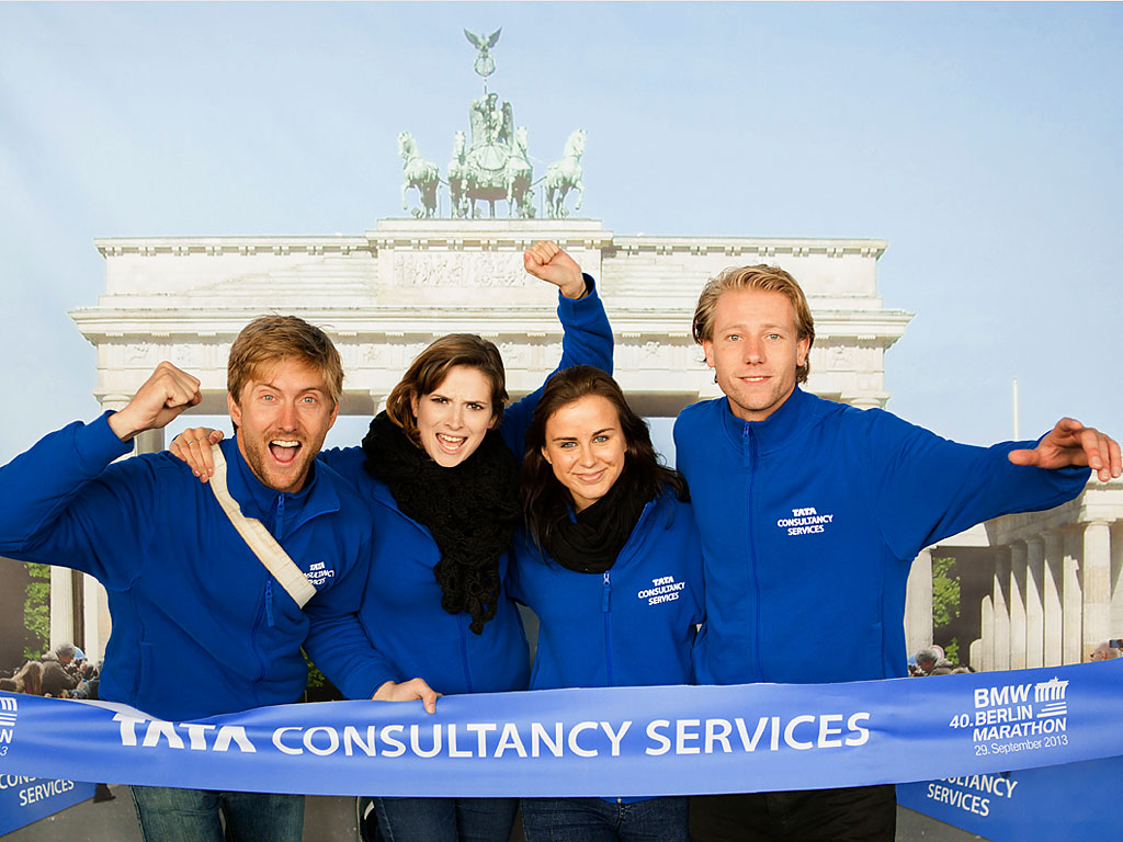 mit viel Freude und Elan waren unsere Promoter im Einsatz für die TATA Consultancy Services, einem der Hauptsponsoren des 40. Berlin Marathon