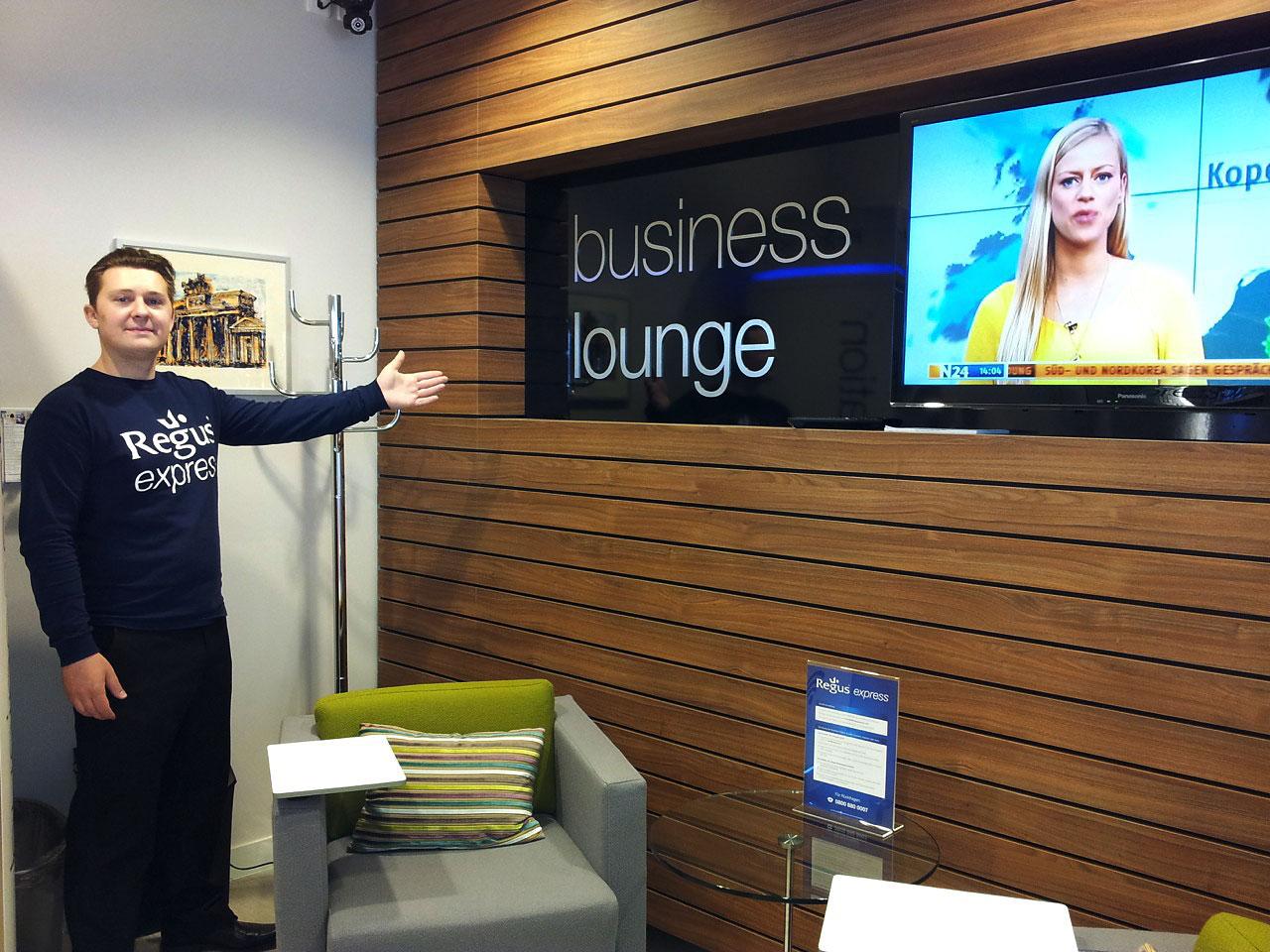 die exklusive Business Lounge ermöglicht ein flexibles Arbeiten auch unterwegs